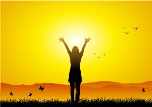 Eine Dame in der Sonne