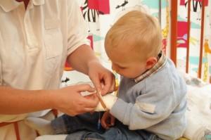 Kleinkind im Krankenhaus