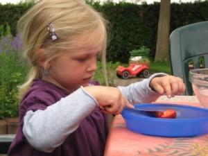 Da macht Kochen auch den Kleinsten Spaß. Mit Erdbeeren kommt Farbe in den Alltag. (Foto: Korkey/pixelio.de)