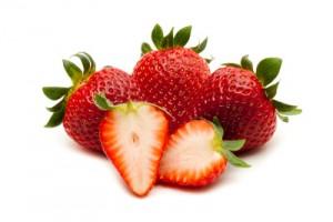 Erdbeeren aufgeschnitten