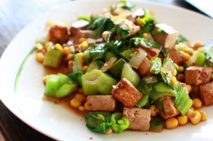 Tofu mit Pak-Choi