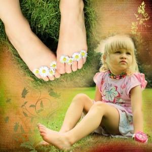 Bild: Kind mit bloßen Füßen