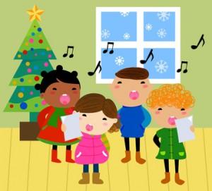 Bild: Figuren singen zu Weihnachten