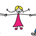 Getrennte Eltern: gut betreute Kinder