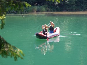 Kanu auf dem Fluss