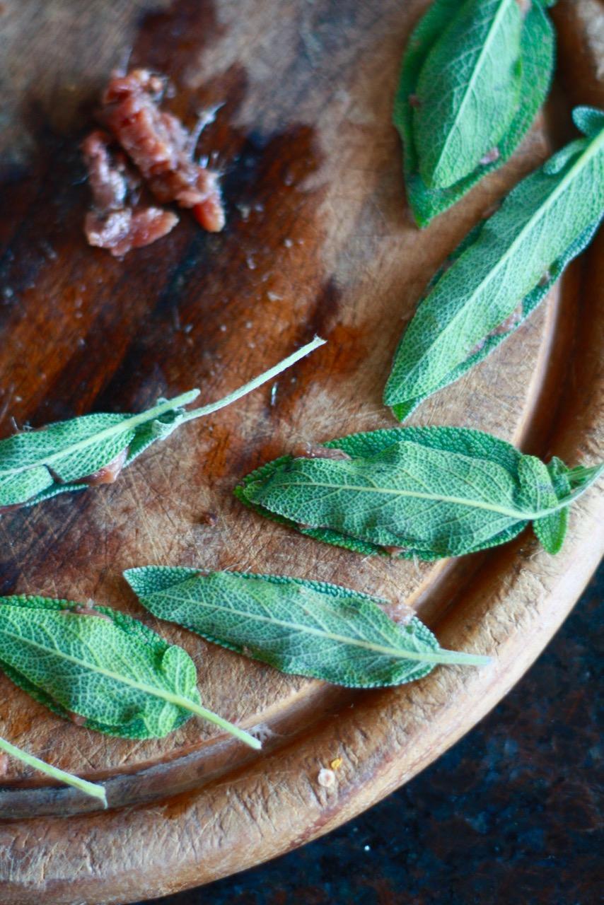 Frische Salbeiblätter können jetzt geerntet werden - z.B. für Salbei-Antipasti.
