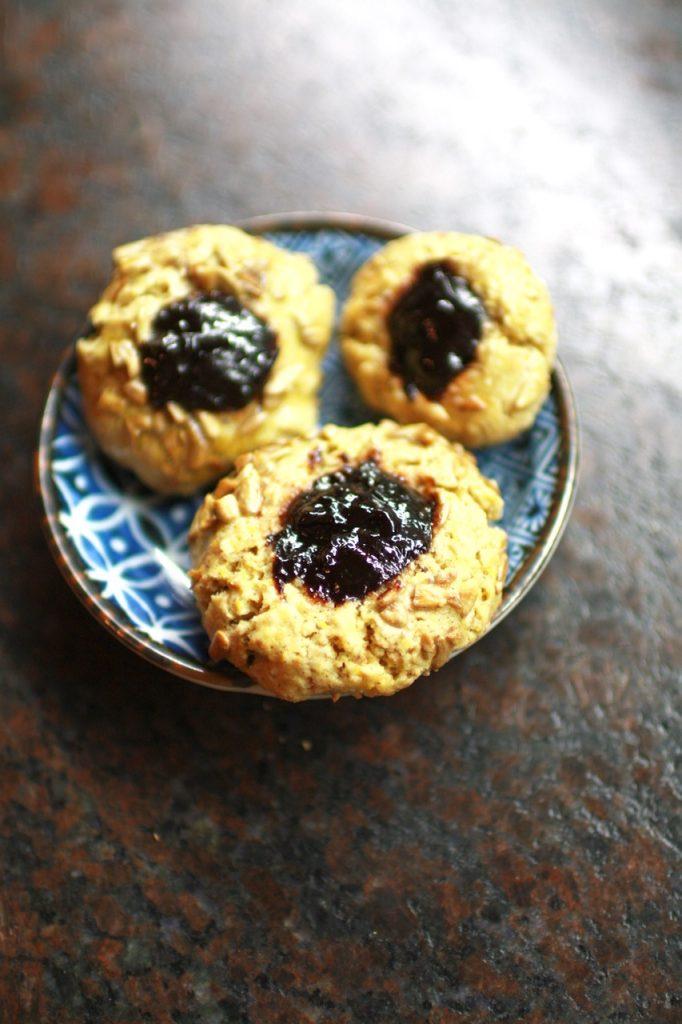 Sonnenblumen-Powidl-Kekse