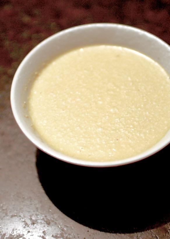 Karottensuppe mit Scamorza