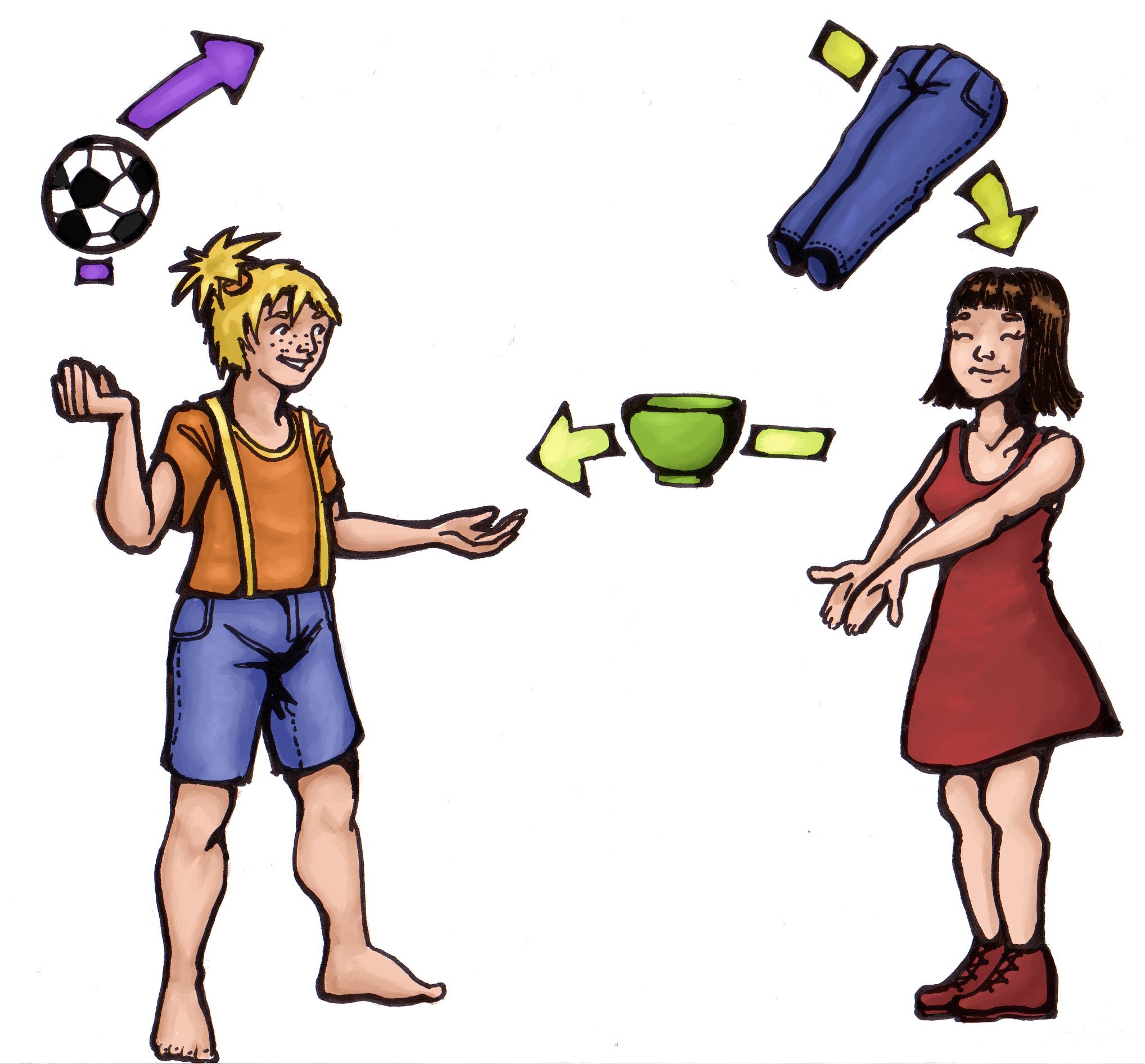 Wenn nicht 1:1 getauscht wird, sondern flexibel jeder bringt und nimmt, was er/sie will, ist die Organisation eines eigenen Tauschtreffens in Klacks.