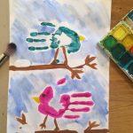 16.12. Wintervögel mit Handdruck