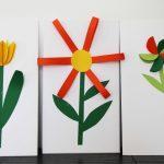 3D Papier-Frühlingsblumen
