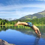 Wanderung mit Schwimmen