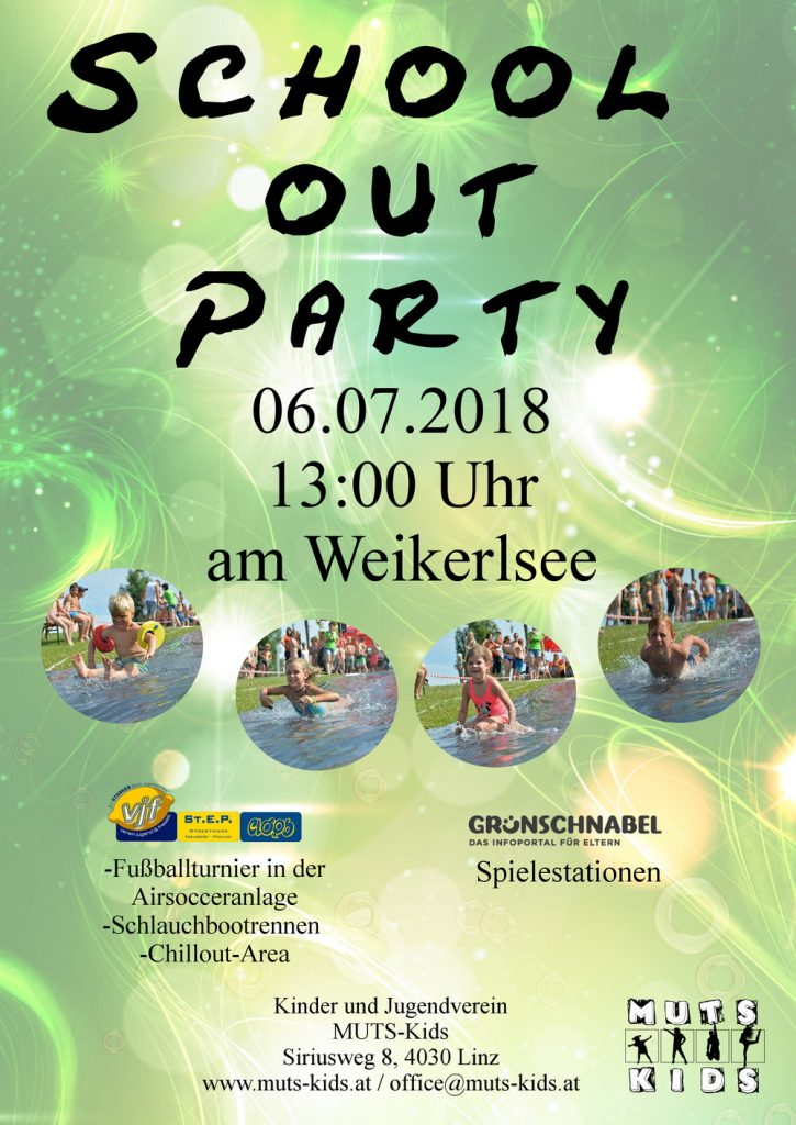 Plakatvorlage A1 school out party
